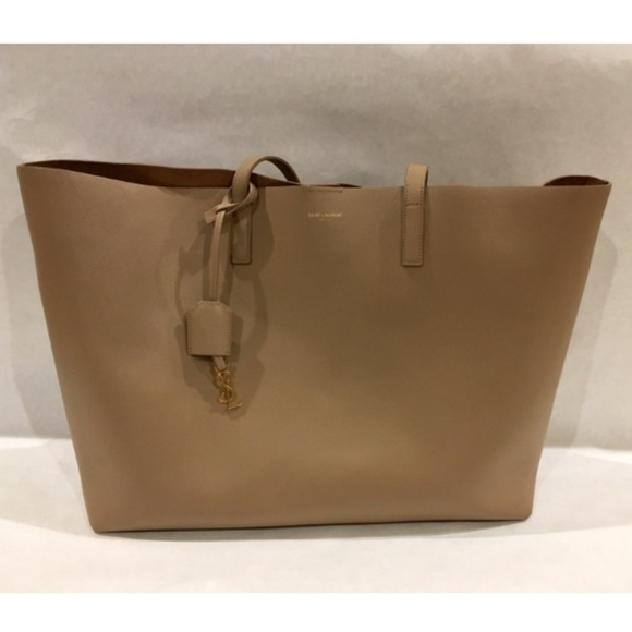 ac2ea508d Yves Saint Laurent Bags | Yves St Laurent Large Taupe Leather ...